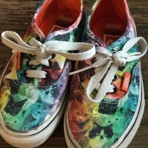 kids VANS ASPCA cats size 13